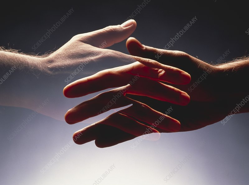 Abstract image of a handshake