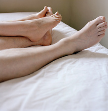 Couple's bare feet