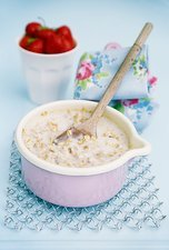 Porridge in a pan