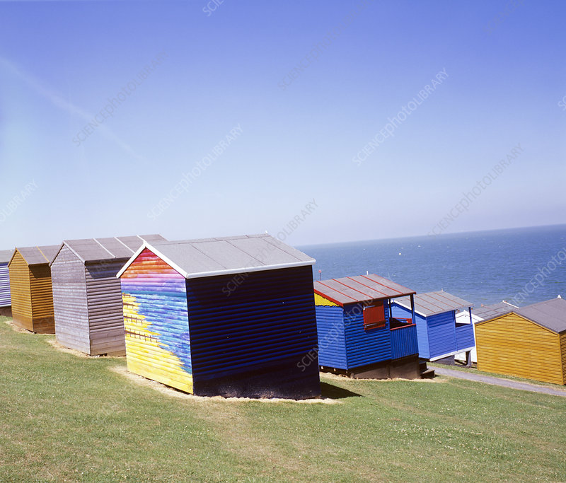 Beach huts stock image p930 0293 science photo library for Model beach huts