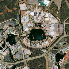 Epcot Center, satellite image