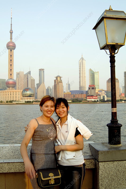 Chinese tourists in Shanghai