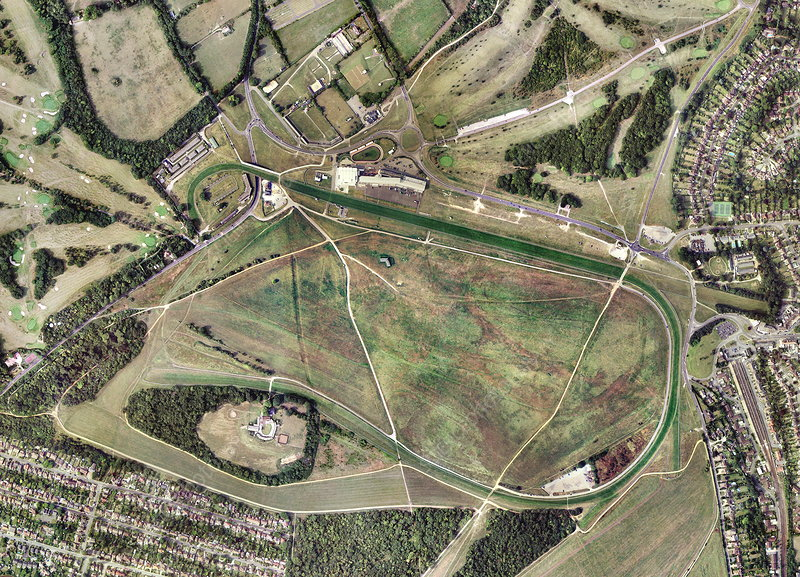 Epsom horse racing track, aerial image