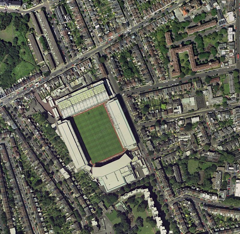 Arsenal's Highbury stadium, aerial view