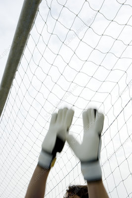 Goalkeeper's hands