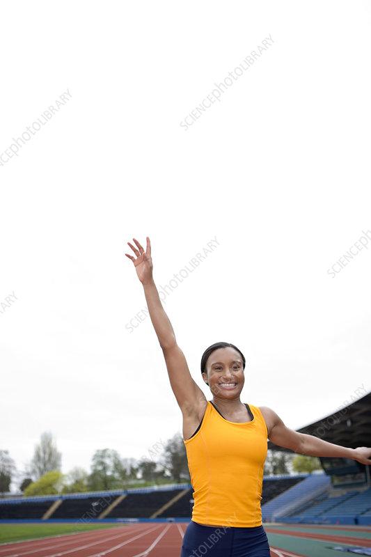 Triumphant athlete