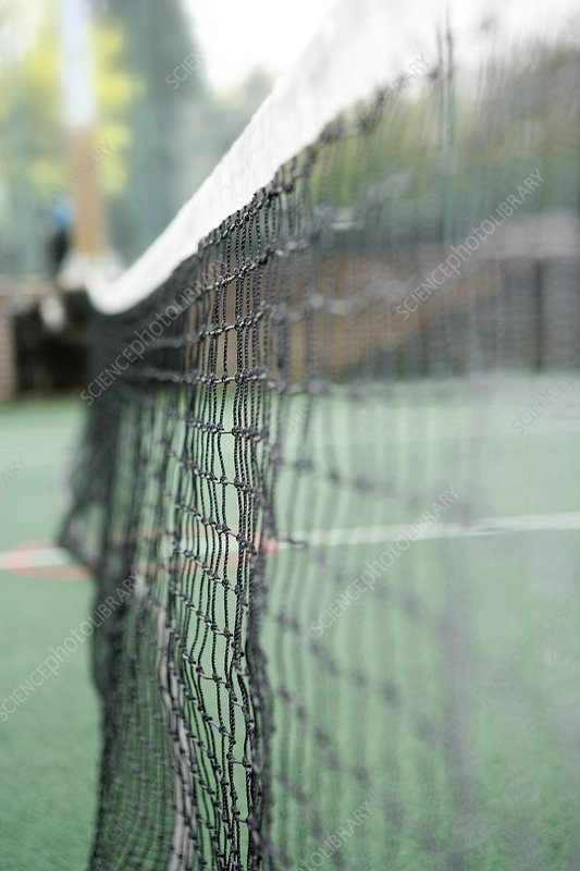Net on a tennis court