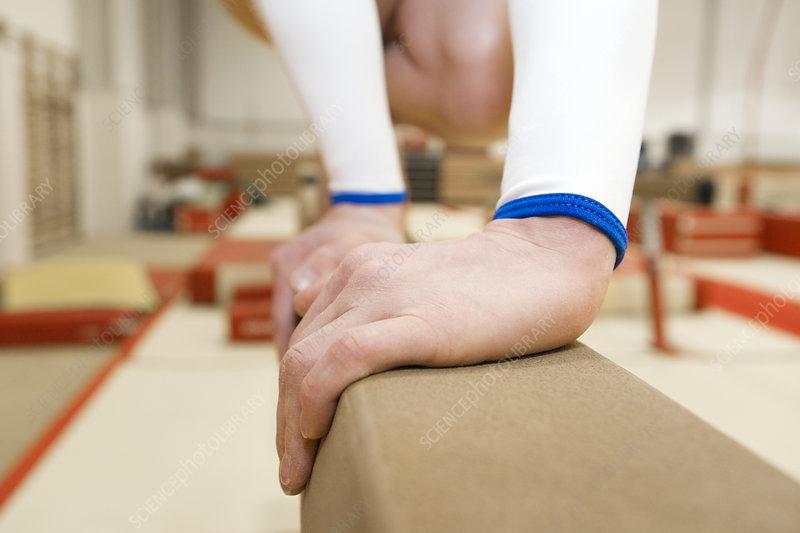 Gymnasts hands