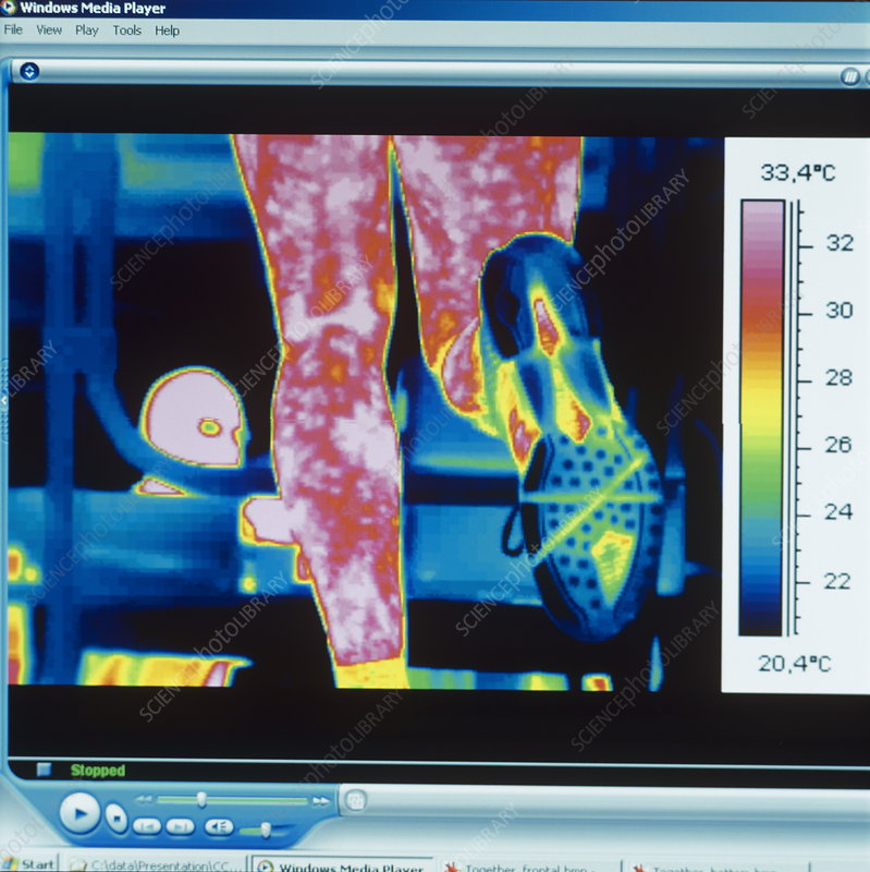 Sports trainer, thermogram