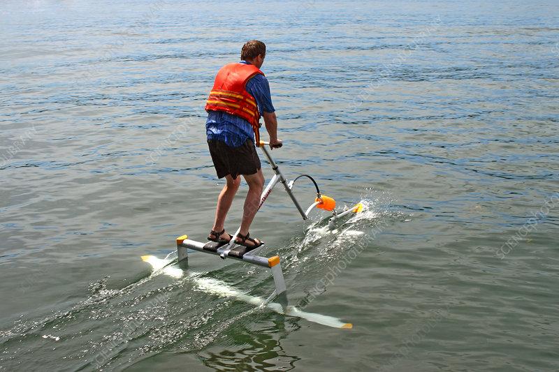 Human powered hydrofoil