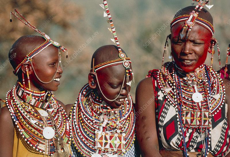 Masai tribeswomen from Kenya