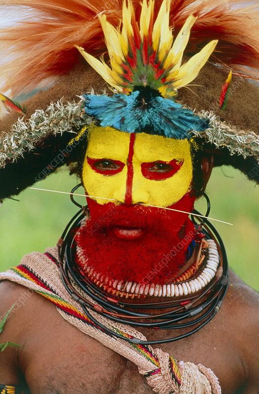 Huli man, Papua New Guinea