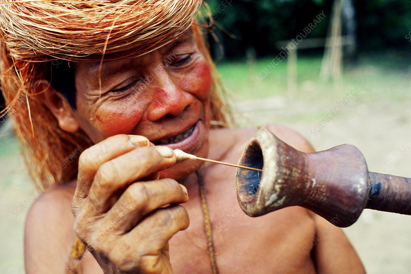 Yagua Indian with blowgun, Peru