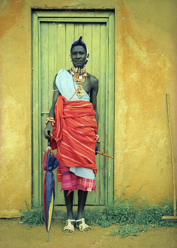 Samburu man, Kenya