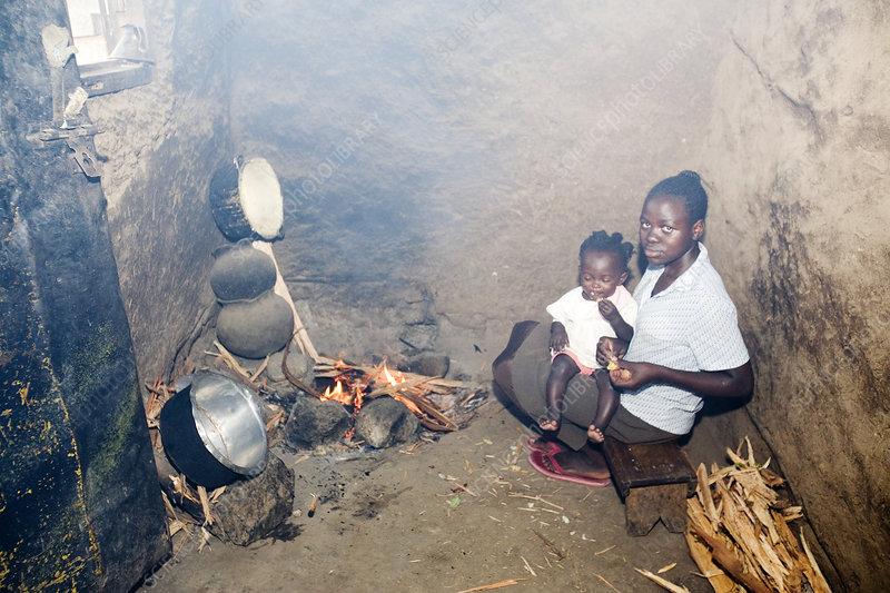 Cooking fire, Kenya