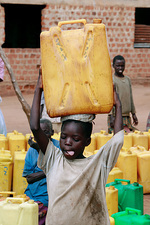 Carrying water, Uganda