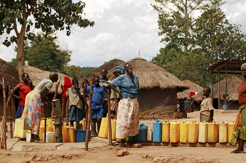 Water collection, Uganda