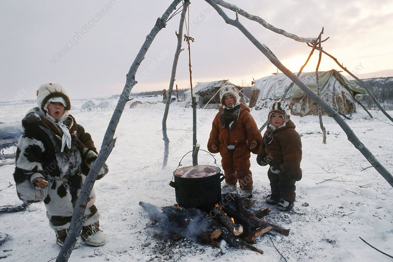Koryak children, Russian Far East