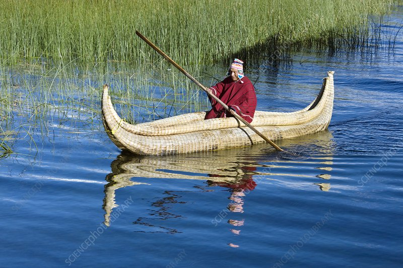 Traditional Bolivian boat