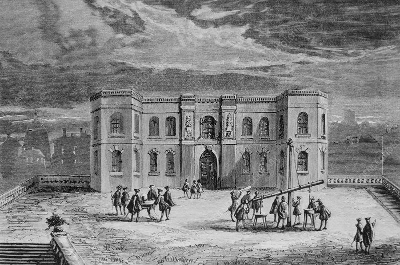 Engraving of the Paris Observatory, France