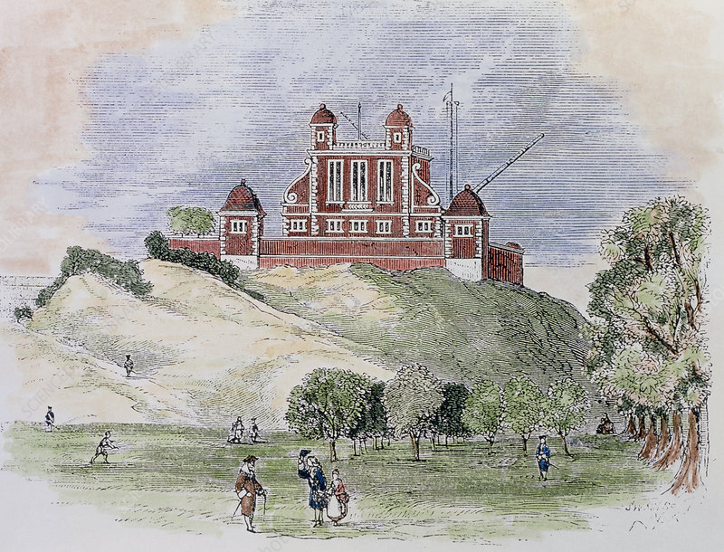 Coloured artwork of Royal Greenwich Observatory