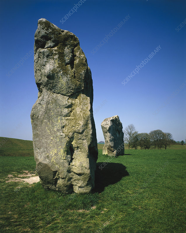 Standing stones, part of circle at Avebury