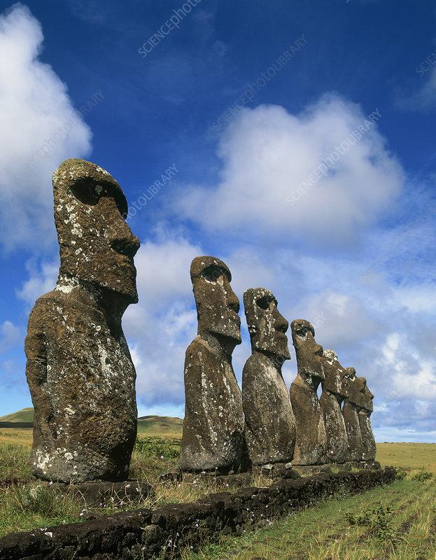 Easter Island moai statues