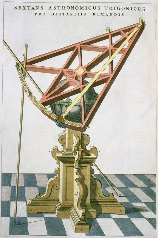 Engr. of Tycho Brahe's astronomical sextant