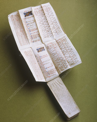 15th-century girdle almanac