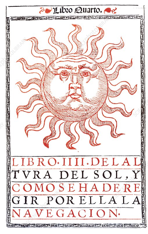 Frontispiece of a book for navigating by the Sun
