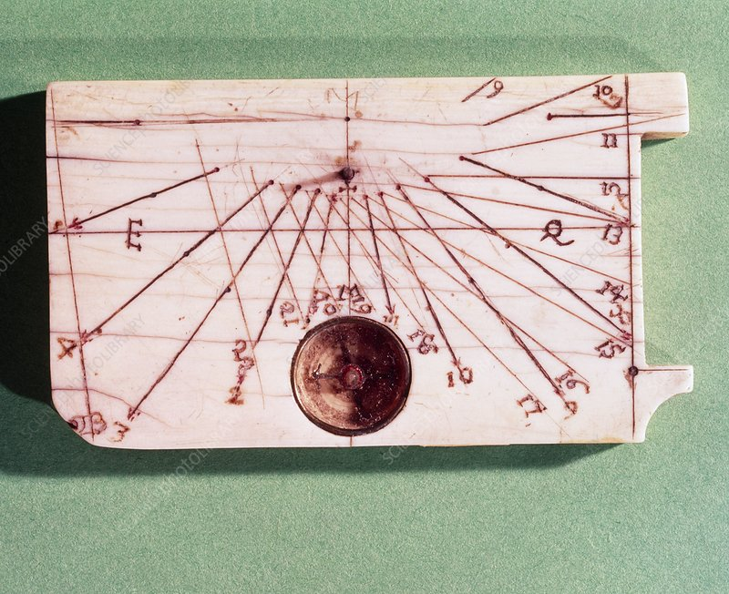 Portable sundial with a built in magnetic compass