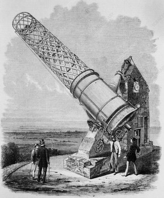 Engraving of the Melbourne Telescope in 1868
