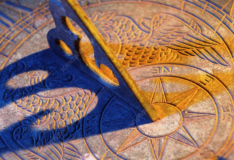 Face of a sundial