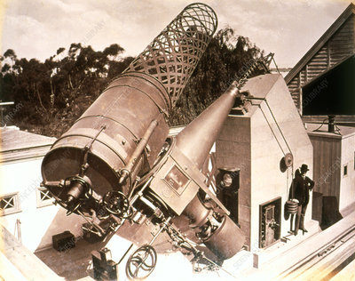 View of the Melbourne Telescope in 1887