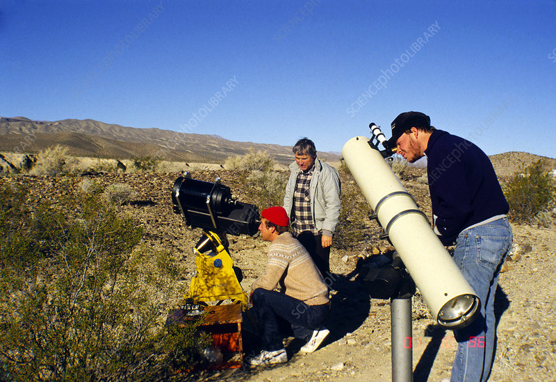 Portrait of amateur astronomers & their telescopes