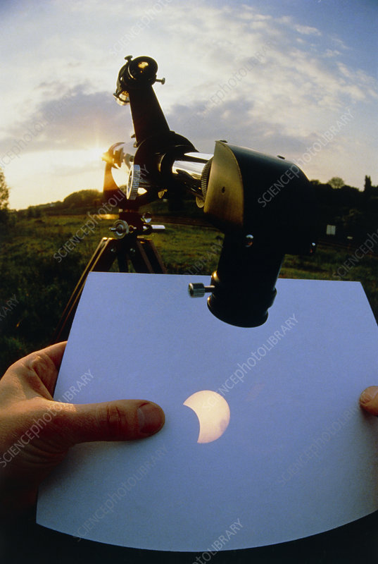 Projection of sun's image during partial eclipse