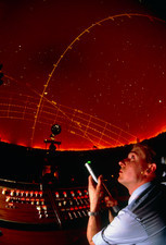 Projectionist Ray Rutter: planetarium Jodrell Bank