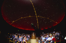 Inside of a planetarium