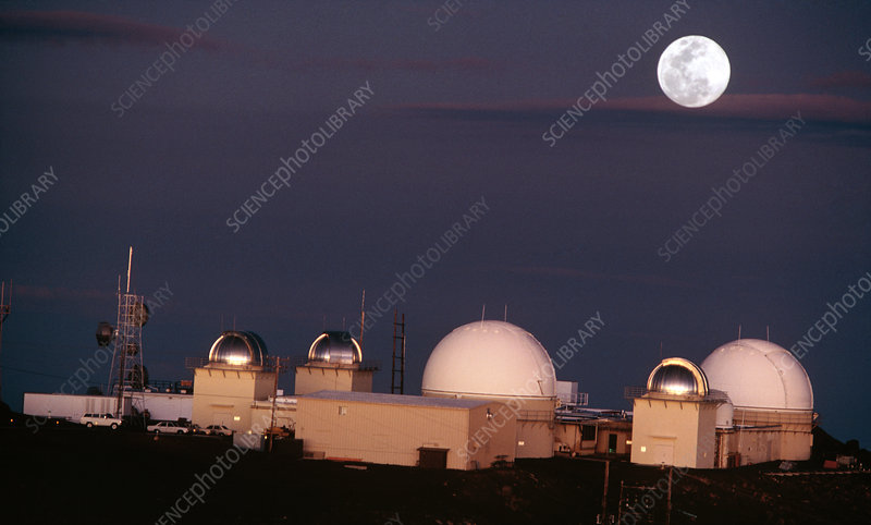 Observatory on the Haleakala crater, Maui