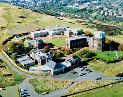 Aerial view of the Royal Observatory in Edinburgh
