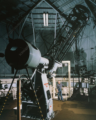 The 90cm Cassegrain telescope in Edinburgh