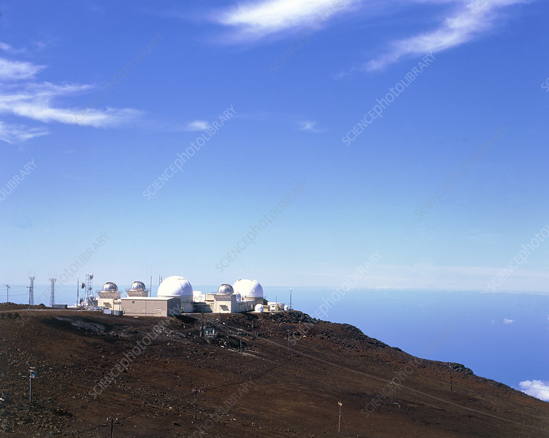 View of Mount Haleakala Observatory, Hawaii, USA