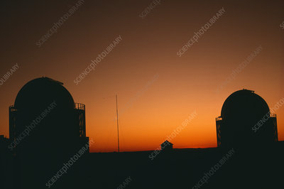 Sunset over South African observatories