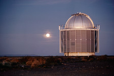 Moon over South African observatory