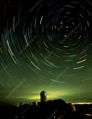 Star trails over Myall telescope dome, Kitt Peak