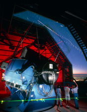 Inside the dome of the WIYN telescope