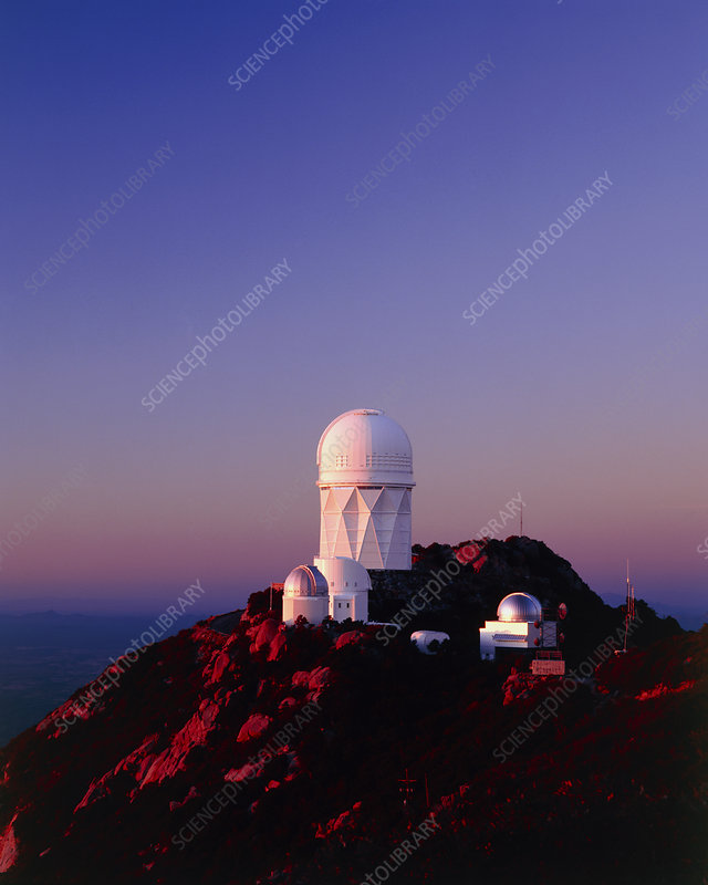 Telescope domes at the Kitt Peak Observatory