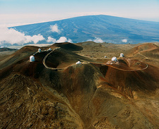 Top of Mauna Kea in Hawaii with several telescopes