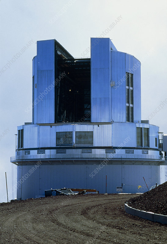 Unfinished Subaru telescope on Mauna Kea, Hawaii