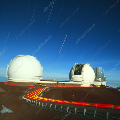Keck observatories on Mauna Kea, Hawaii